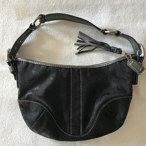 Coach Signature - Black Python Leather Hobo